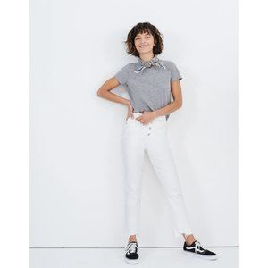 NWT Madewell Perfect Vintage Crop Jean Tile White